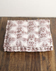 Cotton Canvas Hand Block Printed Decorative Paisley Floor Cushion Cover