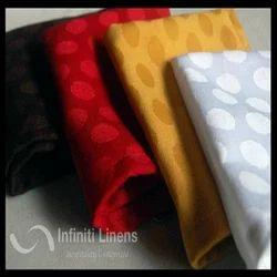 Red,Silver Polyester Designer Napkins