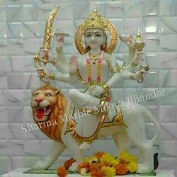Durga Maa White Marble Moorti