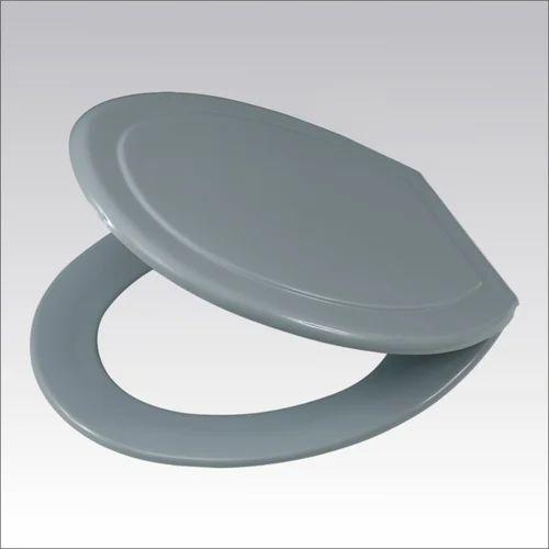 grey plastic toilet seat
