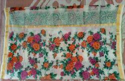 Cotton Printed Kota Doria Screen Print Saree