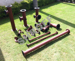 SHROFF Black MSRL MS Rubber Lined Pipes