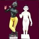 White & Black Marble In Iskcon Radha Krishna Statue