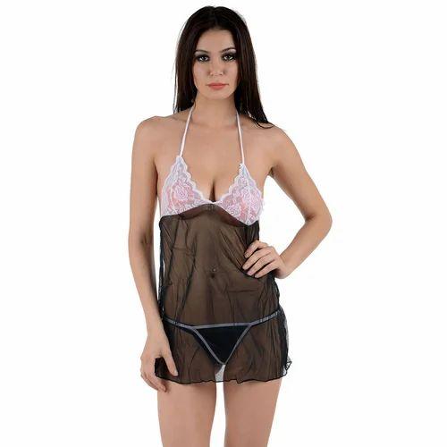 dd50e1e5249 Nighties Short Length Women s Lace Transparent Babydoll Nightwear ...