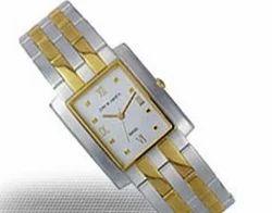 Silver Gold Fancy Wrist Watch