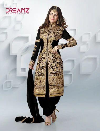 d909206e0b Black Colour Heavy Embroidered Salwar Suit, Salwar Suits - Unique ...