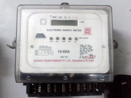 Three Phase Electric Meter, Electrical Meter, बिजली का ...