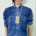 Full Sleeves Plain Branded Denim Shirts