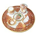 Marble Ganesha Design Pooja Plate MB209