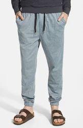 Cotton/Linen Gray Jogger Pants