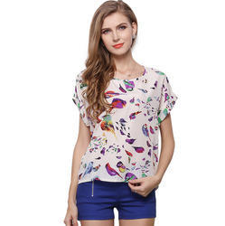 Birds Printed Top
