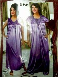 Satin 2 Pcs Night Gown