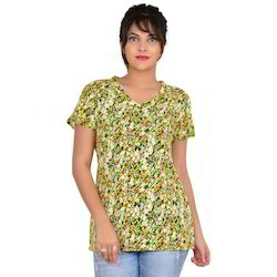 Rayon Printed Stylish Top, Size: S - XL