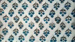 Hand Block Buti Print Dress Material