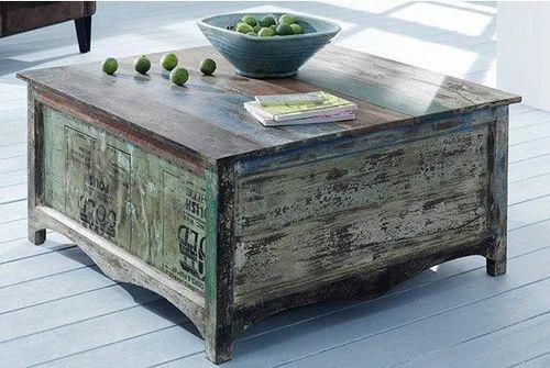 Rustic Coffee Table - Rustic Furniture, लकड़ी का कॉफी