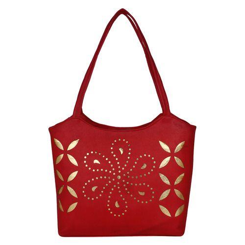 a85fcec1e Red Leather Designer Handbag, Rs 150 /bag, Sanchit Silk Mills | ID ...