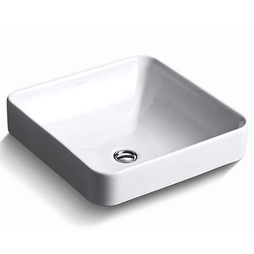 Forefront Square Vessel Lavatory Without Faucet Hole