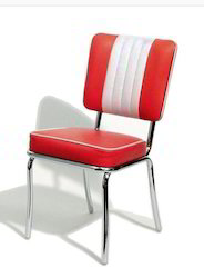Red and White Restaurant Chair