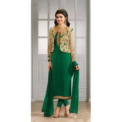Green Party Wear Embroidery Salwar Suit