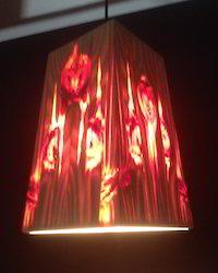 Square Pyramid Wooden Hanging Lamp