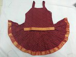 Kids Maroon Skirt Top Set