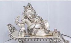 Silver Coated Ganesh Idol