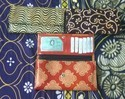8 Inches Leather Block Credit Cards Wallets