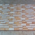 Teak Mint 7 Strip Dual Stacking Mosaic Tile