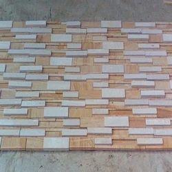 Teak Mint 7 Strip Dual Stacking Mosaic Tile