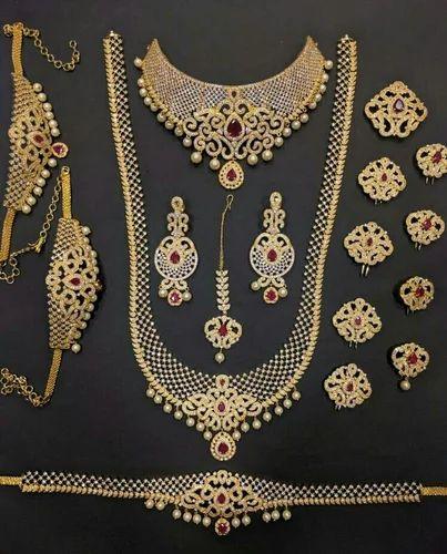 ce767173d7169 Full Designer Bridal Set In Cz Stones