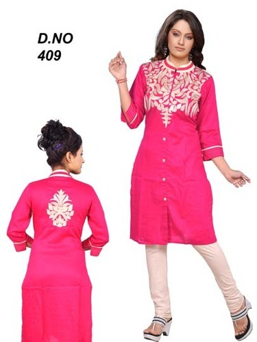 4949fc3bf77 Latest Embroidered Rayon Kurti at Rs 450  piece(s)