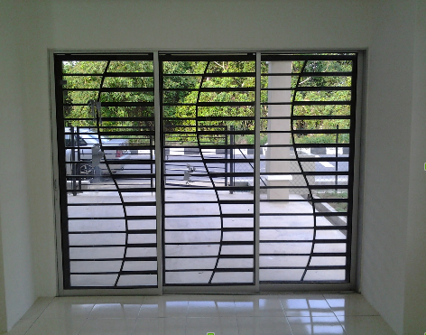 Designer Window Grill खडक क गरलस वड
