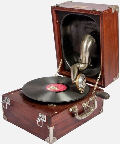 Gramophone Cabinet Music Box Antique Phonograph
