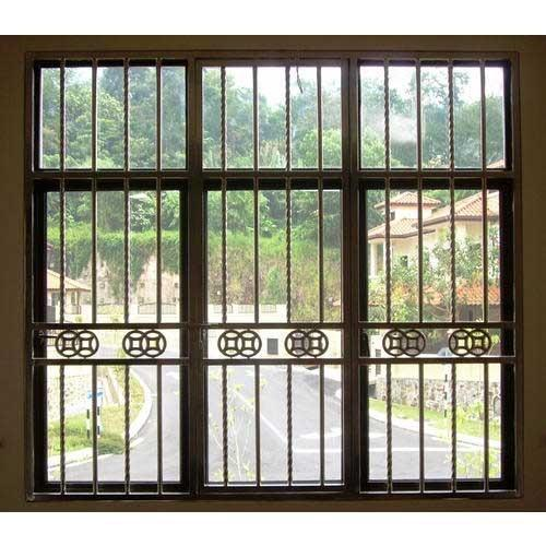 Window Grill & Wrought Iron Steel Glass Windowmetal Glass
