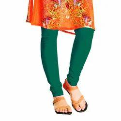 Ladies Green Plain Leggings