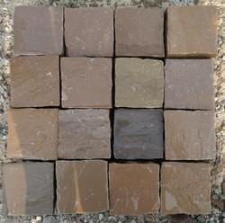 Golden Brown Sandstone Cobbles