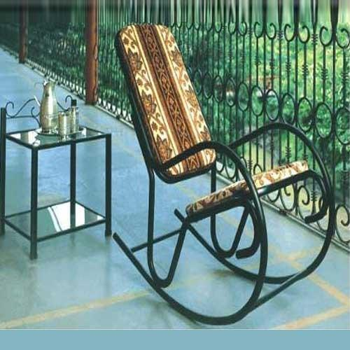 Etonnant Black Metal Rocking Chair