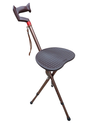Fine Adjustable Height Walking Stick With Folding Stool Pabps2019 Chair Design Images Pabps2019Com