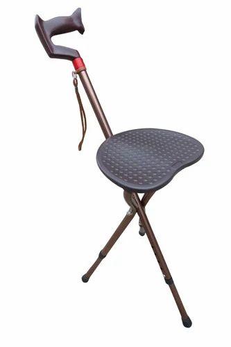 Awe Inspiring Adjustable Height Walking Stick With Folding Stool Creativecarmelina Interior Chair Design Creativecarmelinacom