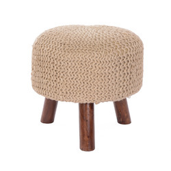 Upholstered Wooden Stool