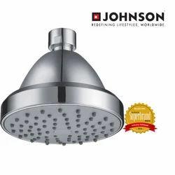 Steel Chrome Plated Circular Johnson Single Flow Overhead Shower, For Bathroom