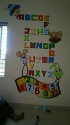 School Wall Painting 3d Cartoon Wall Painting Artist Manufacturer