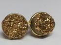 Gold Druzy Earring Stud