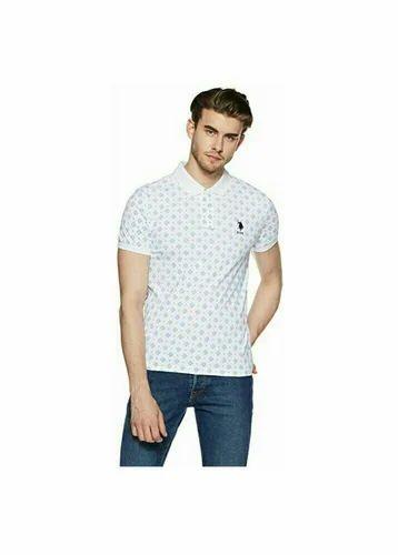 U S Polo White And Black Mens Polo T Shirt Rs 799 Piece Id