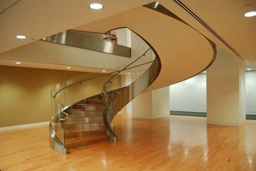 Image result for handrail glass bend