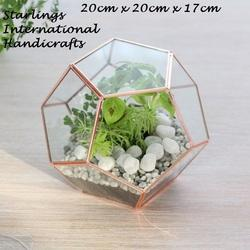 Geometric Glass Terrarium Indoor Planter Copper At Rs 300 Piece S