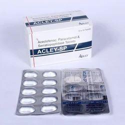 Aceclofenac 100mg Paracetamol 325mg Serratiopeptidase 15