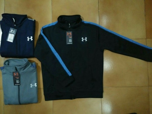 Black and Navy Grey Polyester Grey Winter Jackets