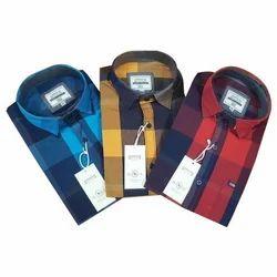 Men Blue Big Checks Shirts