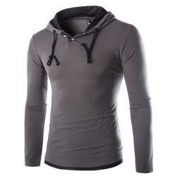 Mens Stylish Hooded T-Shirt